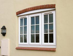 Classic white uPVC casement window