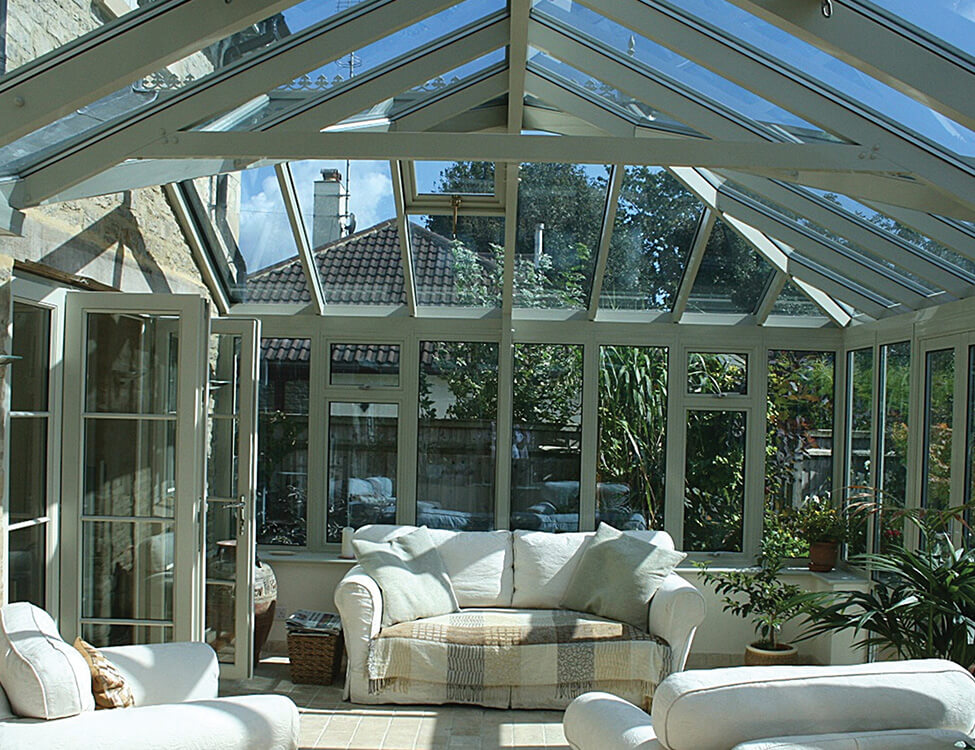 Interior view of a uPVC conservatory
