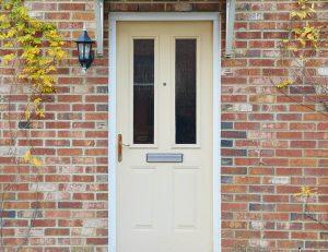 Classic entrance cream composite door