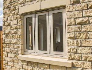 Traditional cream uPVC flush sash window