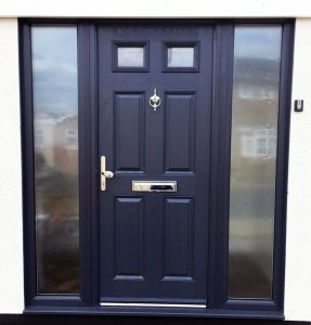 Black front composite door