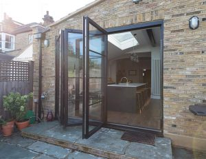 Open door aluminium bifold door