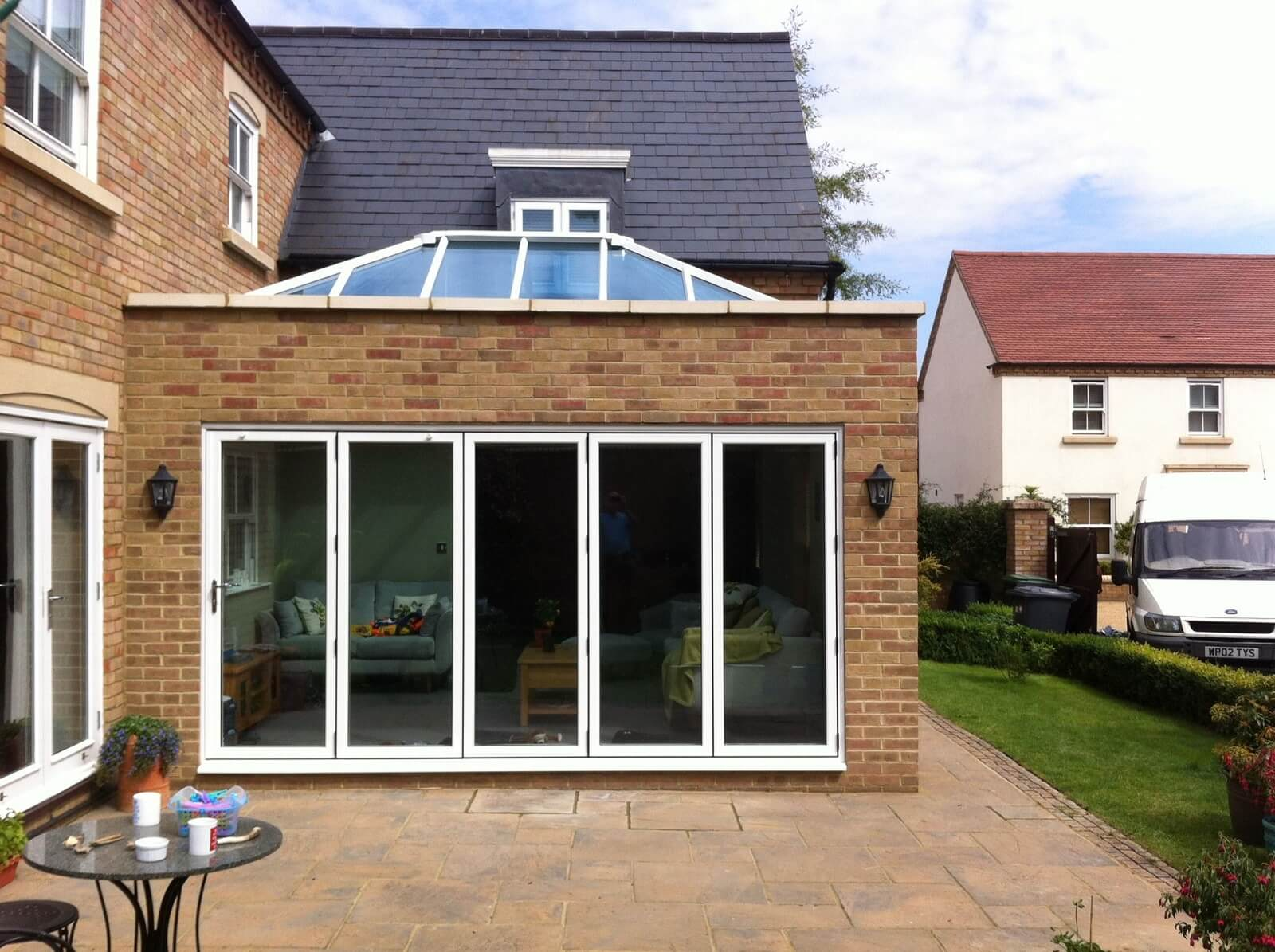 Orangery extension with bifold doors